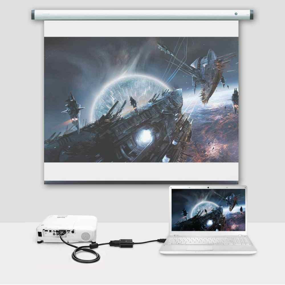 Pergelangan Kaki HDMI untuk VGA Adaptor Kabel HDMI Vga Kabel Penopang 1080P dengan Kabel Audio untuk HDTV Xbox PS3 PS4 Laptop TV Box