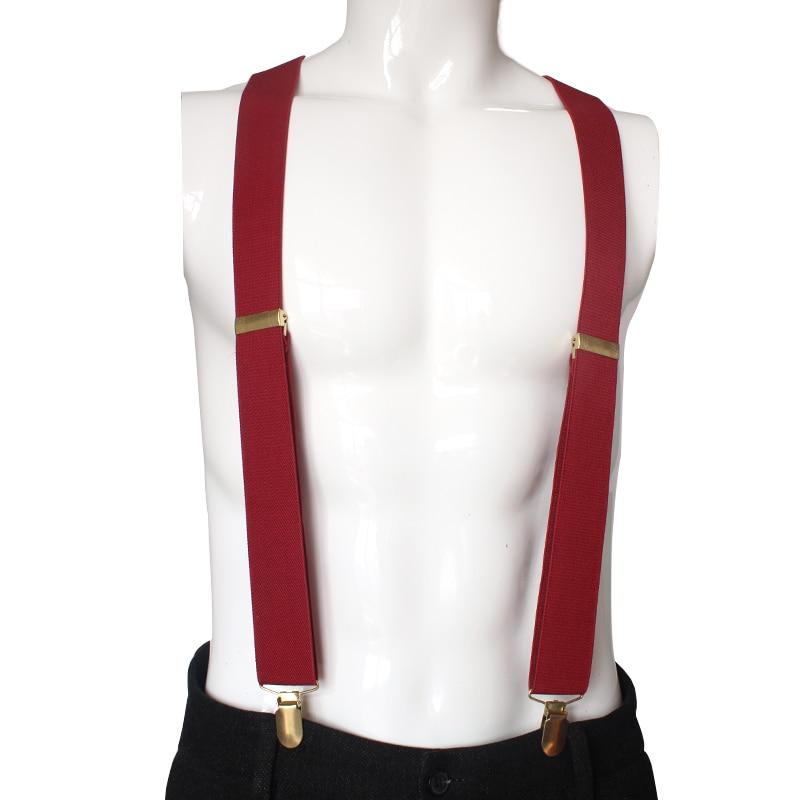 ZHIAO Solid Color Unisex Adult Suspenders Men XL Large Size 3.5 Width 3 Clips Suspender Adjustable Elastic Y Back Women Braces