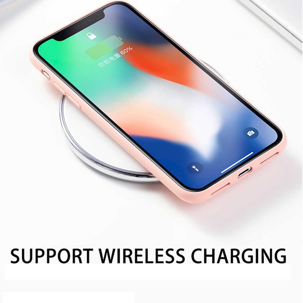 Ince yumuşak iphone için kılıf 7 8 6 6s artı 5S 4 orijinal sıvı silikon kapak şeker renk Coque çapa iPhone X Xs 11 Pro Max XR