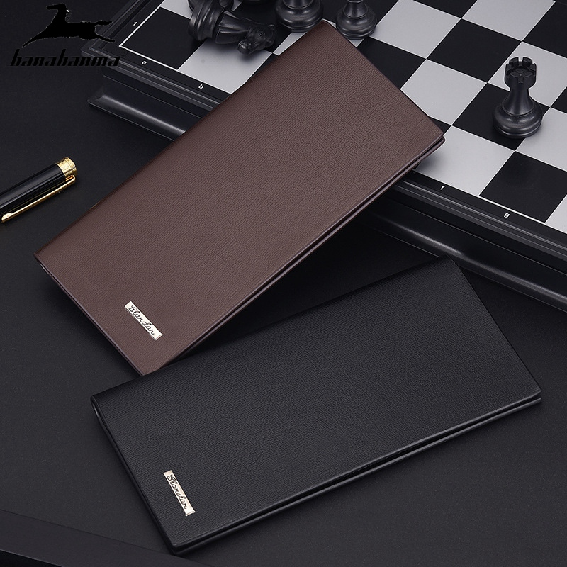 Men's Wallet Business Long Thin Soft Leather Wallet To Increase The Capacity Of Money Bag Multi-card Package 2020 Hot New Purse
