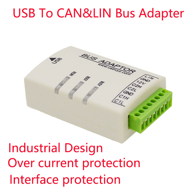 USB To LIN CAN CANFD K Analyzer Adapter Bootloader IAP Firmware Upgrade Open Source