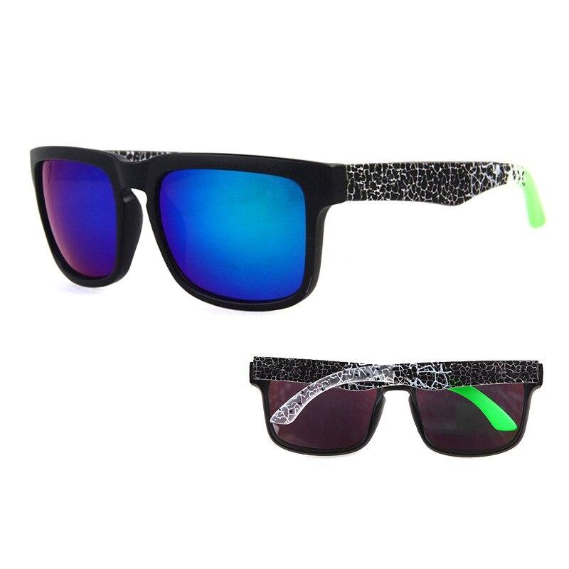 Sunglasses KEN BLOCK Men's And Women Brand Designer Sun Glasses Reflective Coating Square Spied For Men Rectangle Eyewear Gafas