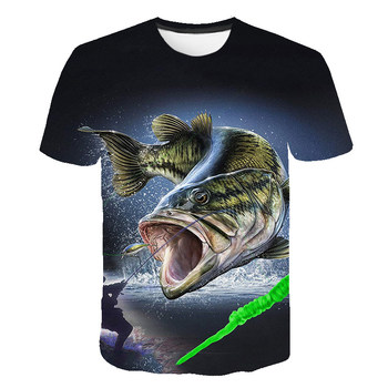 Funny gifts for men fishing shirt birthday t-shirt sea animals Fish Printed T Shirt Men Fisherman Joke t-shirt camisa