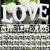 White Wooden Letter English Alphabet DIY Personalised Name Design Art Craft Free Standing Heart Wedding Home Decor 1