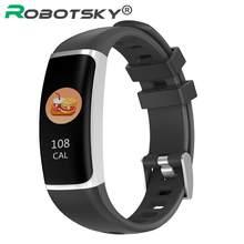 Y7 relógio inteligente freqüência cardíaca monitor de pressão arterial oxigênio sono tela colorida pulseira esporte para android ios à prova dwaterproof água