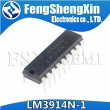 10 unids/lote LM3914N-1 LM3914N de grafico de barras de LED controlador de pantalla IC DIP-18