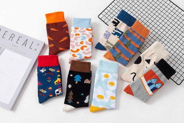 New Arrival Couple Socks MEN'S Socks Comfortable And Breathable Cotton Socks Street Style Hip HOP Skates Socks Men's Sports Soc