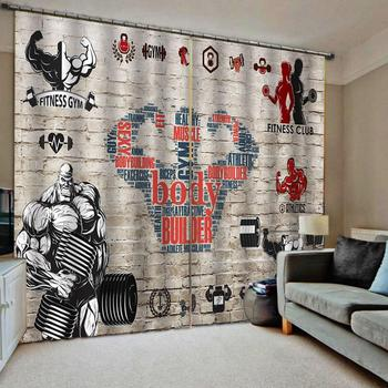 birck curtains sport Drapes Living room Bedroom Decor 2 Panels HooksWindow Curtains
