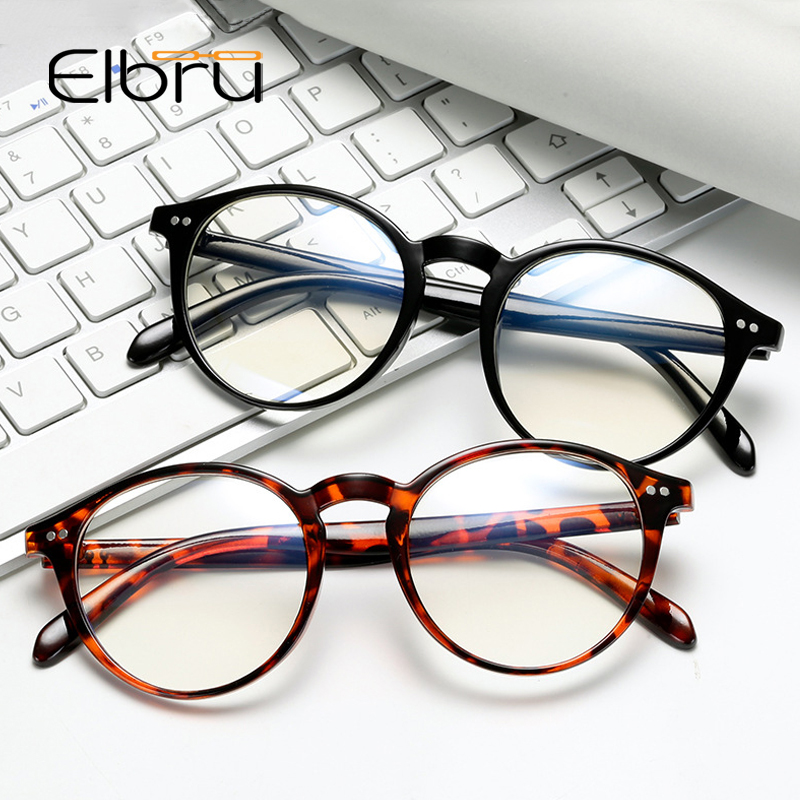 Elbru Vintage Retro Round Eye Glasses Frame Women Men Optical Spectacles Frames Eyewear Myopia Glasses Frame Hipsters Style