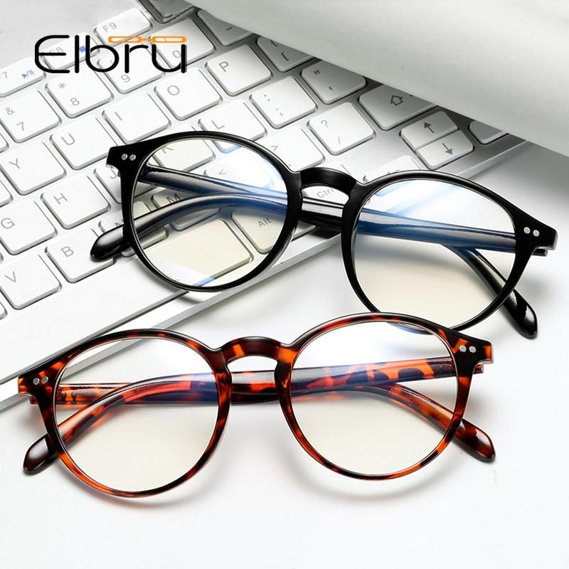 Elbru Vintage Retro Round Eye Glasses Frame Women Men Optical Spectacles Frames Eyewear Myopia Glasses Frame Hipsters Style