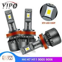 headlight led h4 h11 h7 h19005 hb3 9006 hb4 9012 hir2  ETI led h11 light bulb auto car styling 12V 55W 6600LM 6000K headlight 2X all in one 2x 30w 3600lm gen 2s led car headlight 9005 hb3 cree chip eti chips 12 24v car headlight led headlight conversion kit