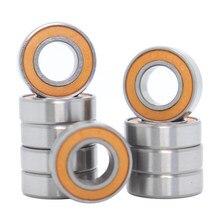 688-2rs rolamento ABEC-3 10 pçs 8x16x5mm, miniatura 688rs rolamentos de esferas 618/8rs z3v3 laranja rolamento selado 688 2rs