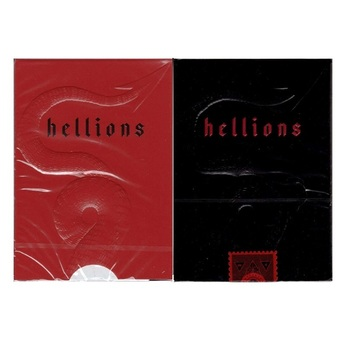 Ellusionist Madison Hellions Playing Cards Bicycle Deck Poker Size USPCC Magic Cards Magic Tricks Magic Props party magic tricks prop and training set shrinking cards