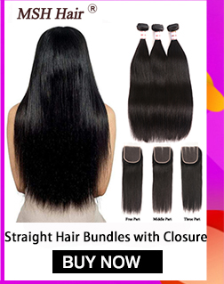 H19a054128d6e4f33a688396c29917c3bJ MSH Hair Brazilian Body Wave Human Hair Weave Bundles With 4*4 Lace Closure 130% Density Non Remy