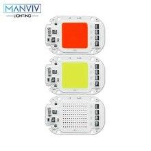 Led cob chip 20w 30w 50 110v 220v colorido inteligente ic chip branco quente branco frio para diy luz spotlight grânulo vermelho verde amarelo