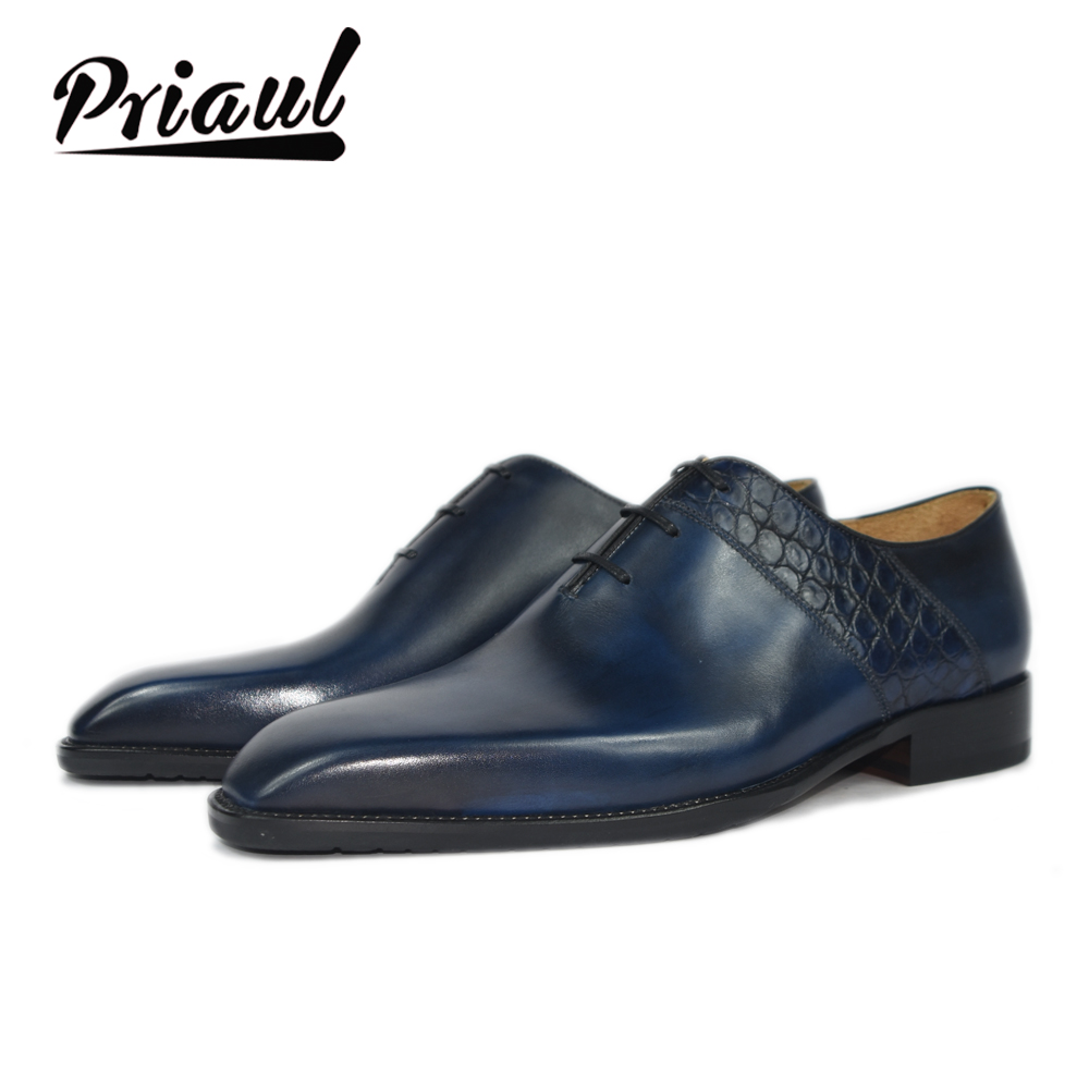 Dress Shoes Men Leather Oxford Real Genuine Leather Wedding Office Fashion Luxury Formal Party Custom Brand Shoe Mens