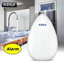 KERUI yeni WD51 kablosuz 433MHZ su kaçağı dedektörü su kaçak sensörü alarmı G18 W18 W2 G19 ev güvenlik alarm sistemi