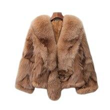 Harppihop Women's new Fox fur shawl warm female winter long