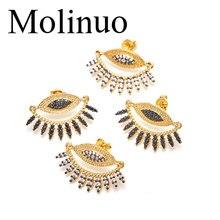 Molinuo earrings jewelry statement fashion devil eye shape inlaid cz female 2019