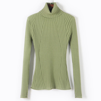 HLBCBG Casual high neck spring autumn slim Sweater pullovers Women Long Sleeve basic knit top female casual turtleneck sweater new arrival casual spring autumn loose sweater pullovers women long sleeve patchwork knit top female o neck geometric sweater