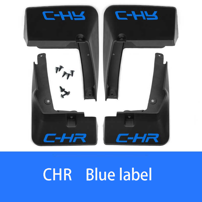 4pcs Front Rear Car Mud Flaps For Toyota CHR 2018 yea Splash Guards Mud Flap Mudguards Fender Mudflaps Accessori image