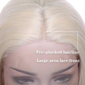 Image 3 - SNOILITE breve ombre bob u parte parrucca anteriore del merletto Sintetico di trasporto del merletto parte 12.5*3 parte anteriore del merletto parrucca Bob parrucche di capelli ondulati per le donne