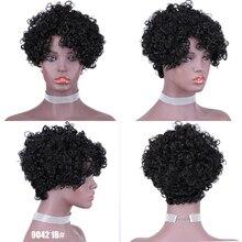 100%Human-Hair Wigs Curly Women for Black P1b/27 Ombre Short Brazilian-Hair