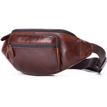 Casual Genuine Leather Men Waist Bag Men's Leather Travel Waist Packs Coffee Male Fanny Pack for Phone Money Bag Belt Pouch bosikas new genuine leather waist packs leather bag belt men phone pouch bags zipper travel waist pack vintage male waist bag