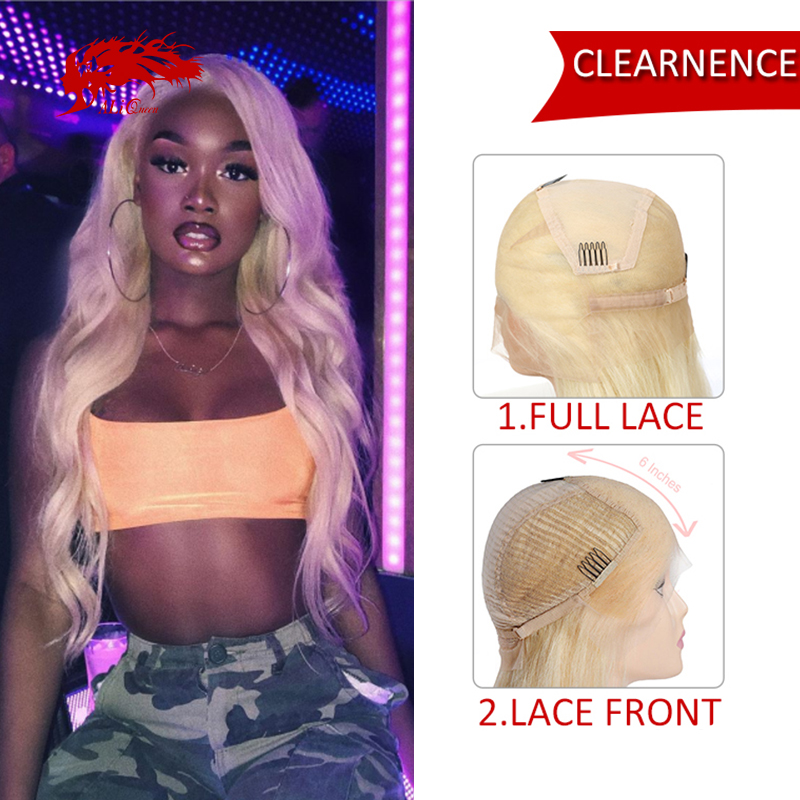 【Clearence】613 Blonde Lace Front Wig 13x6 Body Wave 150% Density Brazilian Remy Human Hair Wigs 8-24 Inches Full Lace Wig