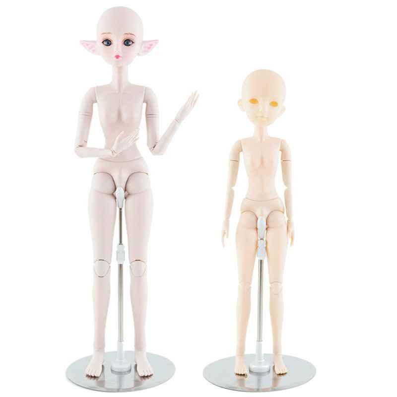 1pc Silber Display Stand Halter Für 1/3 1/4 Bjd Puppen 60cm 50cm Zubehör Spielzeug