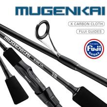 MUGENKAI fishing rod UL lure spinning rod 0.8-5g lure weight 1-6LB line weight Carbon Spinning Fishing Stick 1.77-2.07m Length
