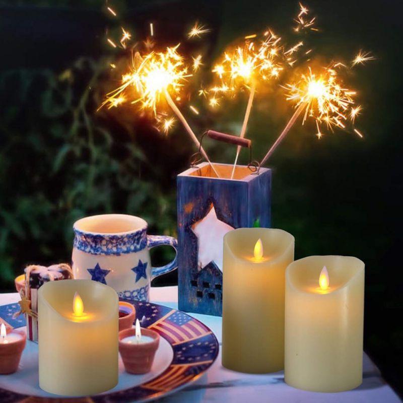LED électronique romantique saint valentin cadeau sans flamme bougie bougies lumières à piles fête de mariage anniversaire Festival