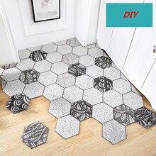 Nordic style DIY pvc wire loop carpet Entry door mat waterproof non-slip bathroom rug custom made Doorway soft floor