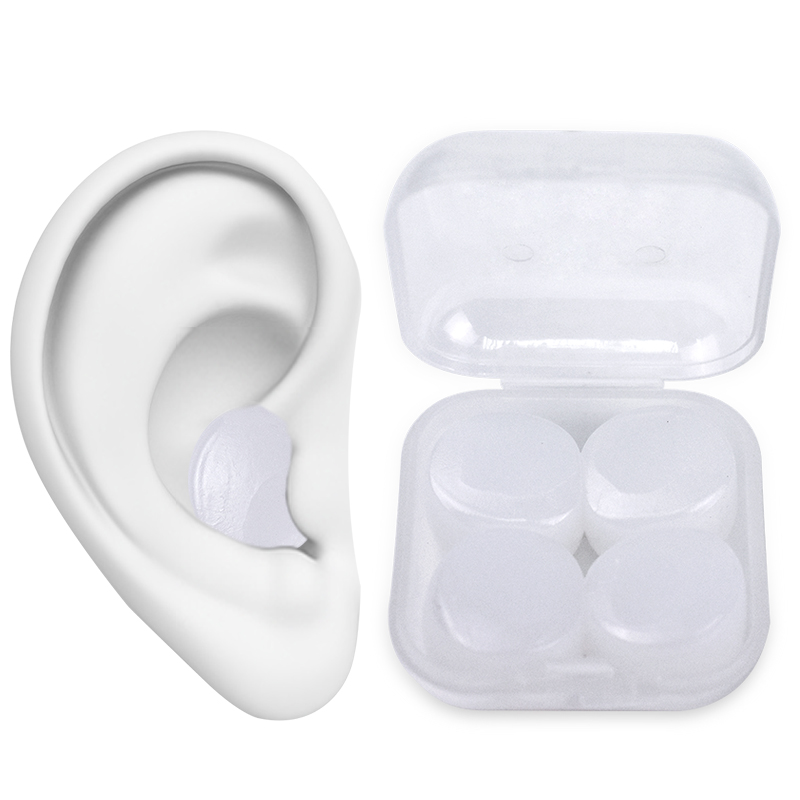 8Pcs Reusable Anti Noise Silicone Earplugs Aid Sleep Soft Earplugs Waterproof Swimming Earplugs Soundproof Ear Plugs Health Care