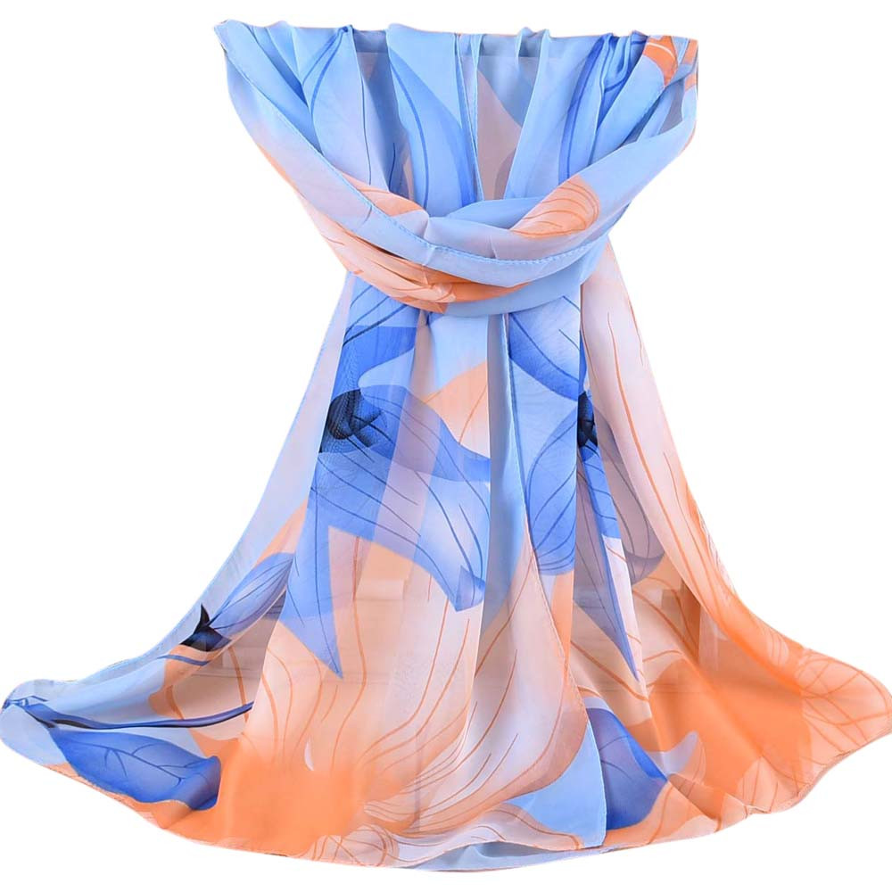 Sleeper #P501 2019 NEW FASHION Women Printed Soft Chiffon Shawl Wrap Wraps Scarf Scarves Schal Winter Cachecol Gift Warm Hot