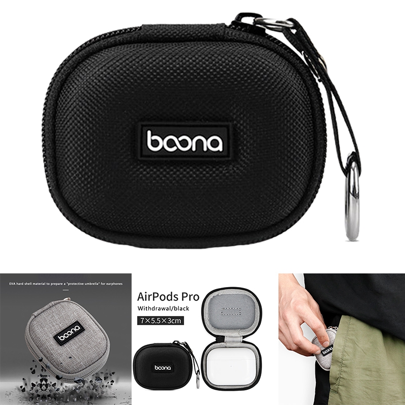 BOONA Hard Case for  Pro Headphones, Portable Anti-Drop Travel Case Protective Cover Storage Bag