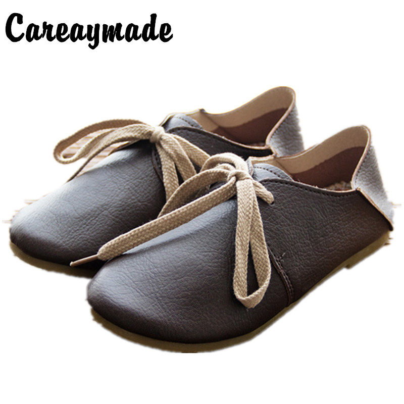 Careaymade-Genuine leather handmade women's shoes soft outsole cute shoes maternity women's shoes cowhide casual shoes,5 colors