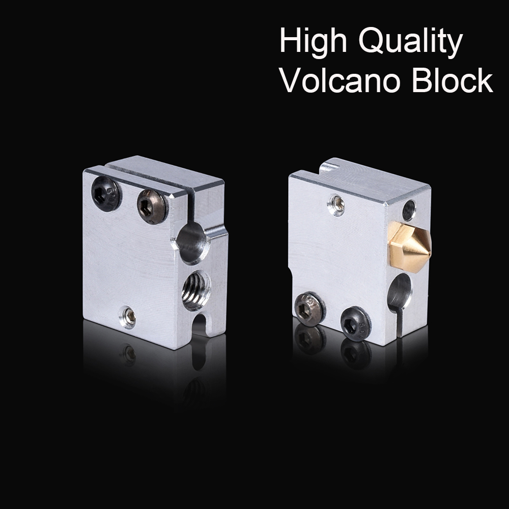 High Quality Volcano Heater Block For E3D Volcano Hotend V6 Extruder Fit PT100 Sensor Thermistor 3D Printer Parts Heated Block