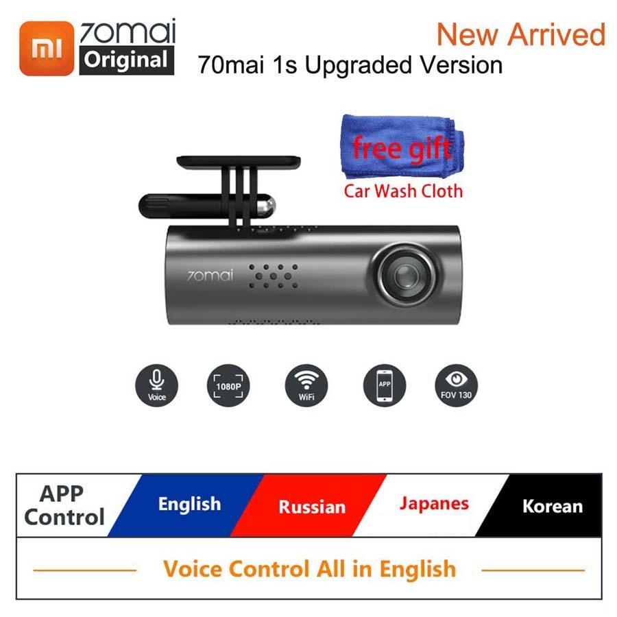 70mai Dash-Cam Dvr Voice-Control Auto-Recorder Night-Vision G-Sensor 1s 1080P English