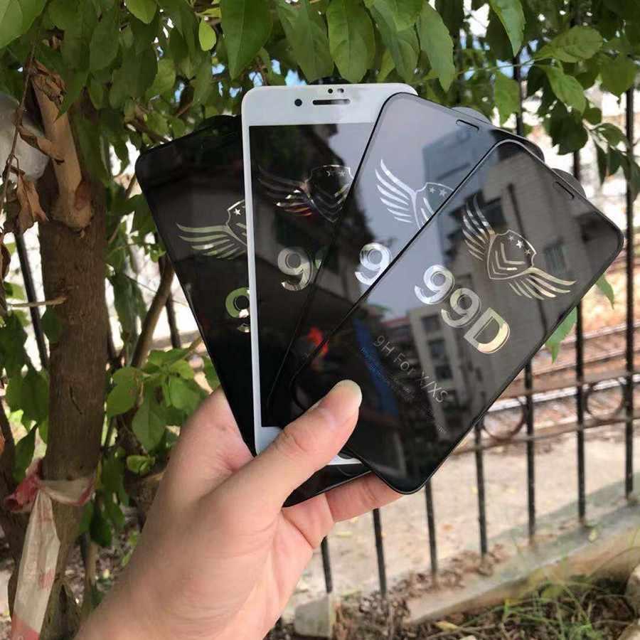 99D Piena Copertura in Vetro Temperato per Il Iphone 7 8 Più di X Xs Max Xr Occhiali per Iphone X Xs Max xr 7 8 Più Pellicola di Protezione in Vetro