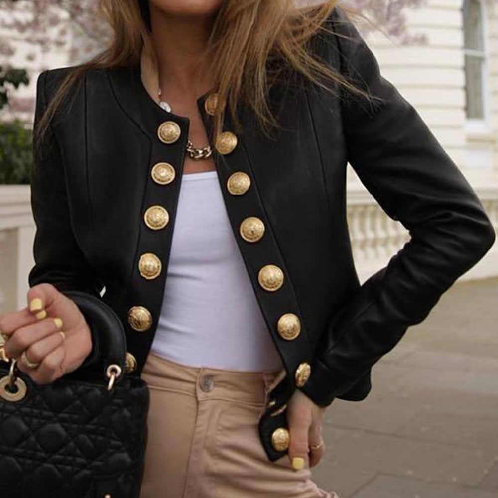 ผู้หญิงฤดูใบไม้ผลิฤดูใบไม้ร่วง PU แจ็คเก็ตหนัง Casual Slim Moto BIKER Faux Leather JACKET หญิง Basic Streetwear ใหม่ Grunge สไตล์