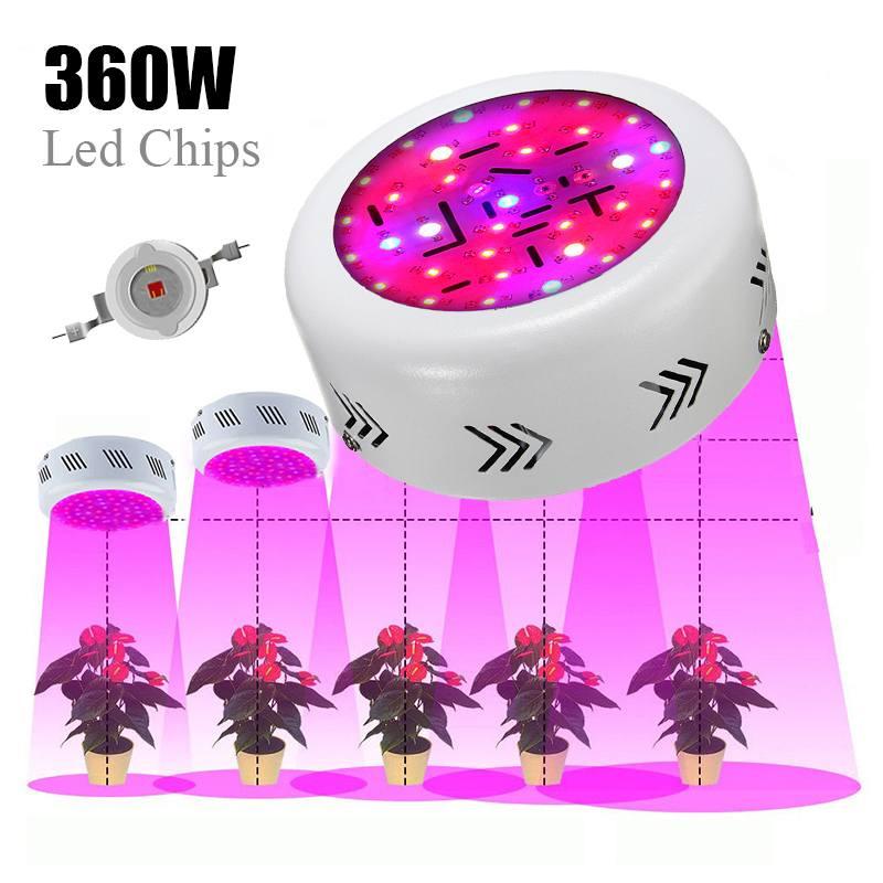 Lampe de culture 360W UFO _ Led grandir lumière spectre complet Fitolamp cultiver boîte pour hydroponique jardin serre plantes d'intérieur 85-265V