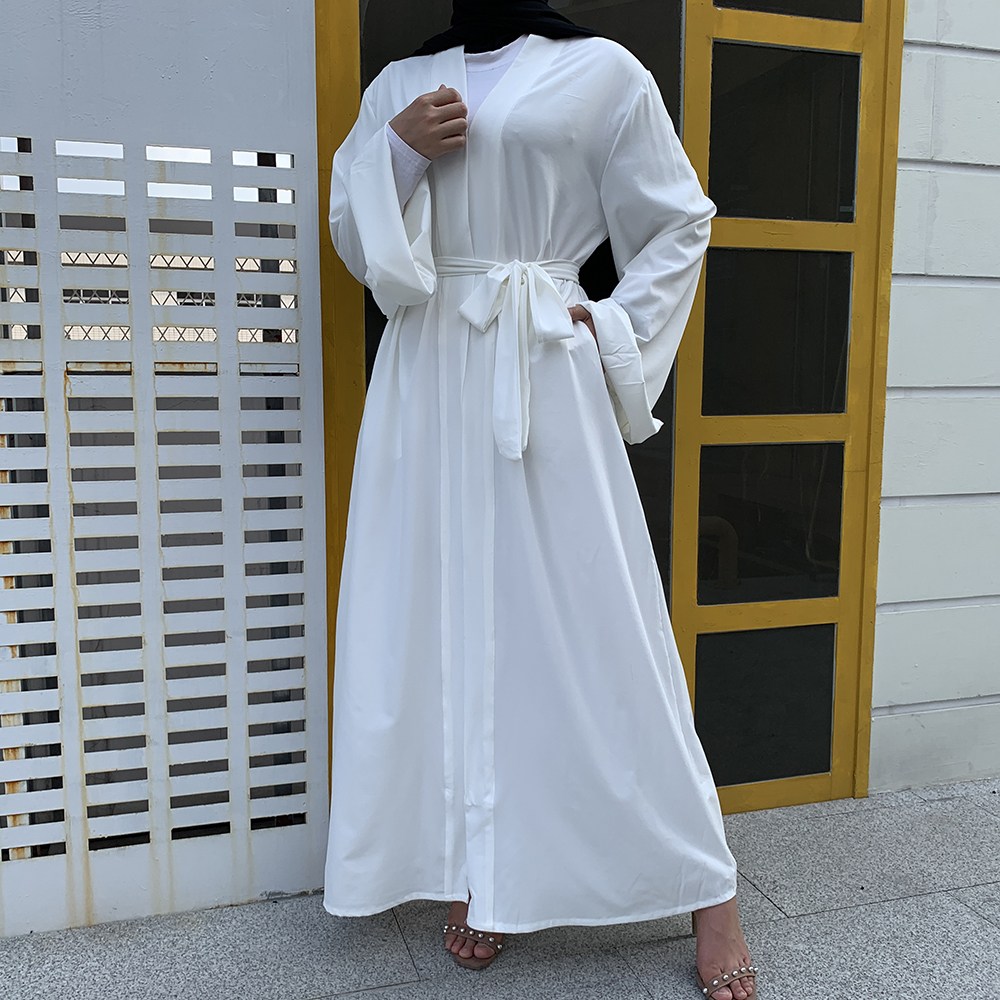 Open Kaftan Dubai Abaya Turkey Kimono Cardigan Islam Muslim Hijab Dress Jilbab Abayas For Women Robe