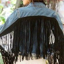 Stylish Fringe Tassel Loose Denim Jacket Coat Women 2020 Fas