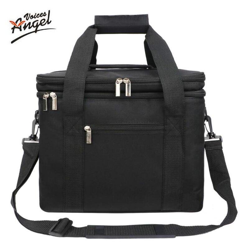 Picnic Cooler Bag Large Double Layer Nevera Portatil Bolsa Termica Ice Box Glaciere Isotherme Pour Pique Nique Koeltas Meal Bags
