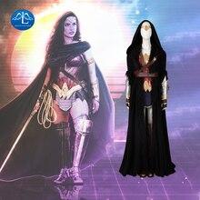 ManLuYunXiao Wonder Woman Cosplay Diana prens DC Superhero takım elbise kadınlar için cadılar bayramı kostüm Masquerade kıyafet Custom Made