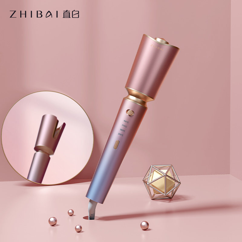 ZHIBAI Automatic Curling Iron Stick Pink Anti Scalding Shell Thermostatic Hair Styling Tools Wave Iron Stick Big Wave Curler|Curling Irons| - AliExpress