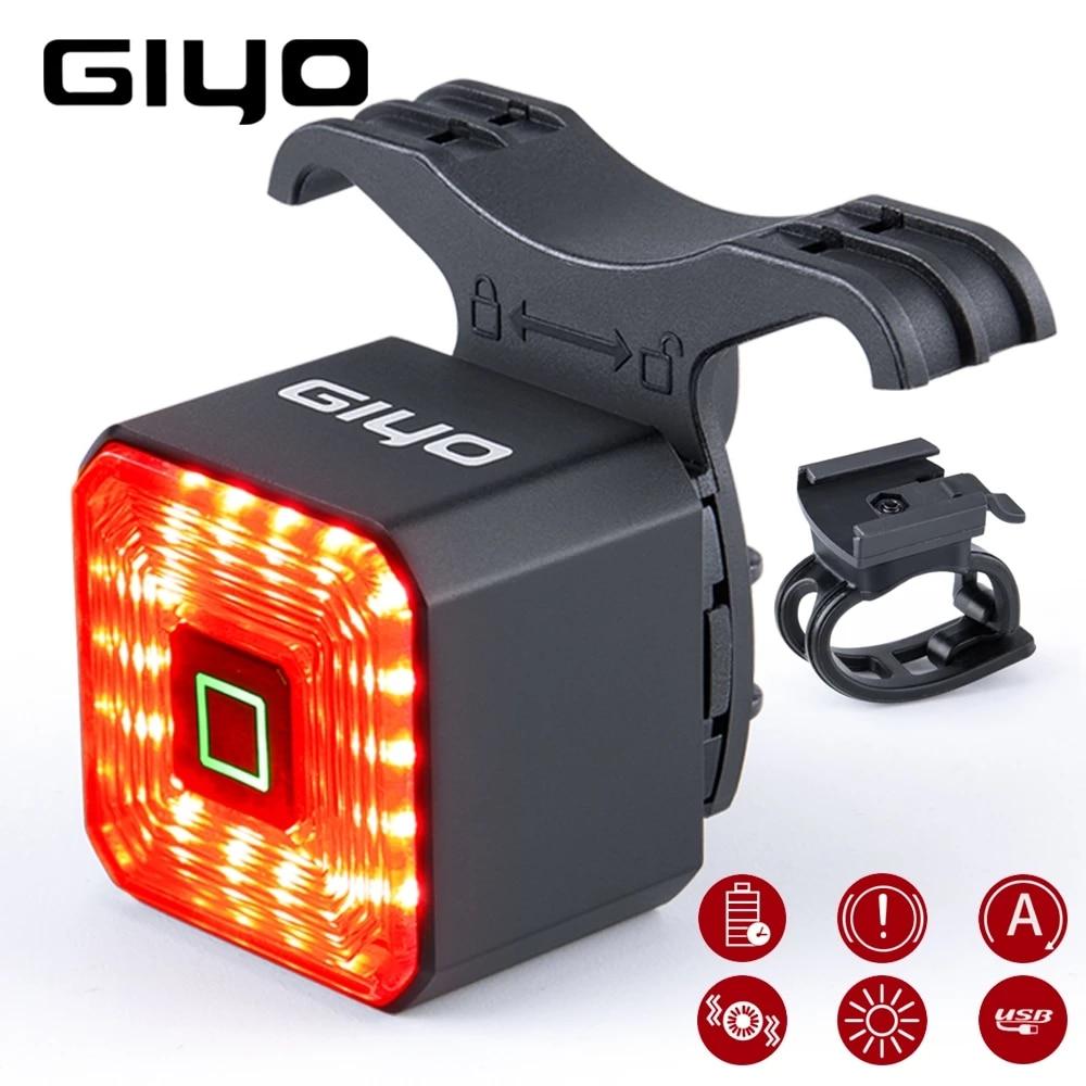 Giyo умный задний фонарь для велосипеда с возможностью Задний фонарь тормоза USB велосипедный задний фонарь велосипедный фонарь автоматическ...
