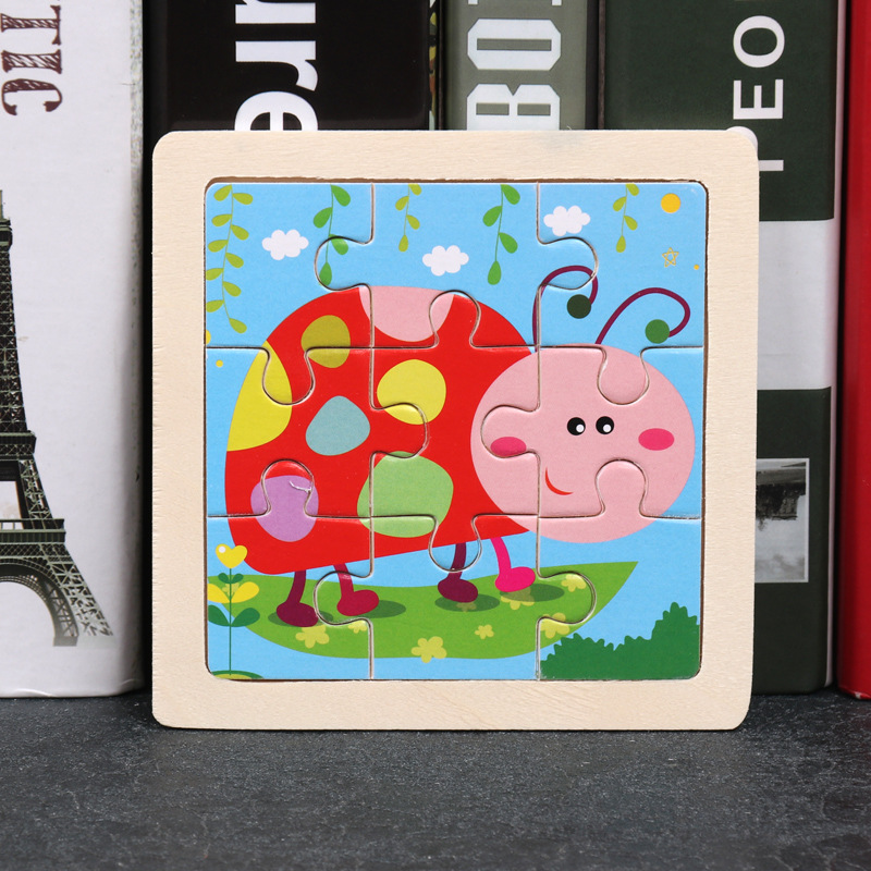 Wood Puzzles Children Adults Vehicle Puzzles Wooden Toys Learning Education Environmental Assemble Toy Educational Games 12