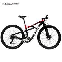 CATAZER Carbon Mountain Bike 29 Wheelset Suspension Frame 20 30 Speeds Profession Disc Brake MTB Bicycle
